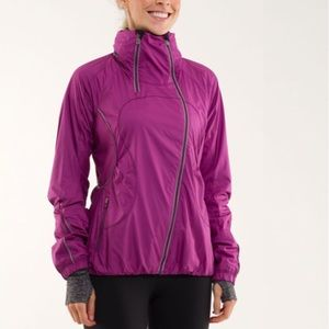 Lululemon Run: Inspire Jacket Sz 10 In Dew Berry